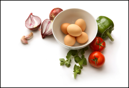 Omelet Ingredients for Susan Reade.com Ⓒ