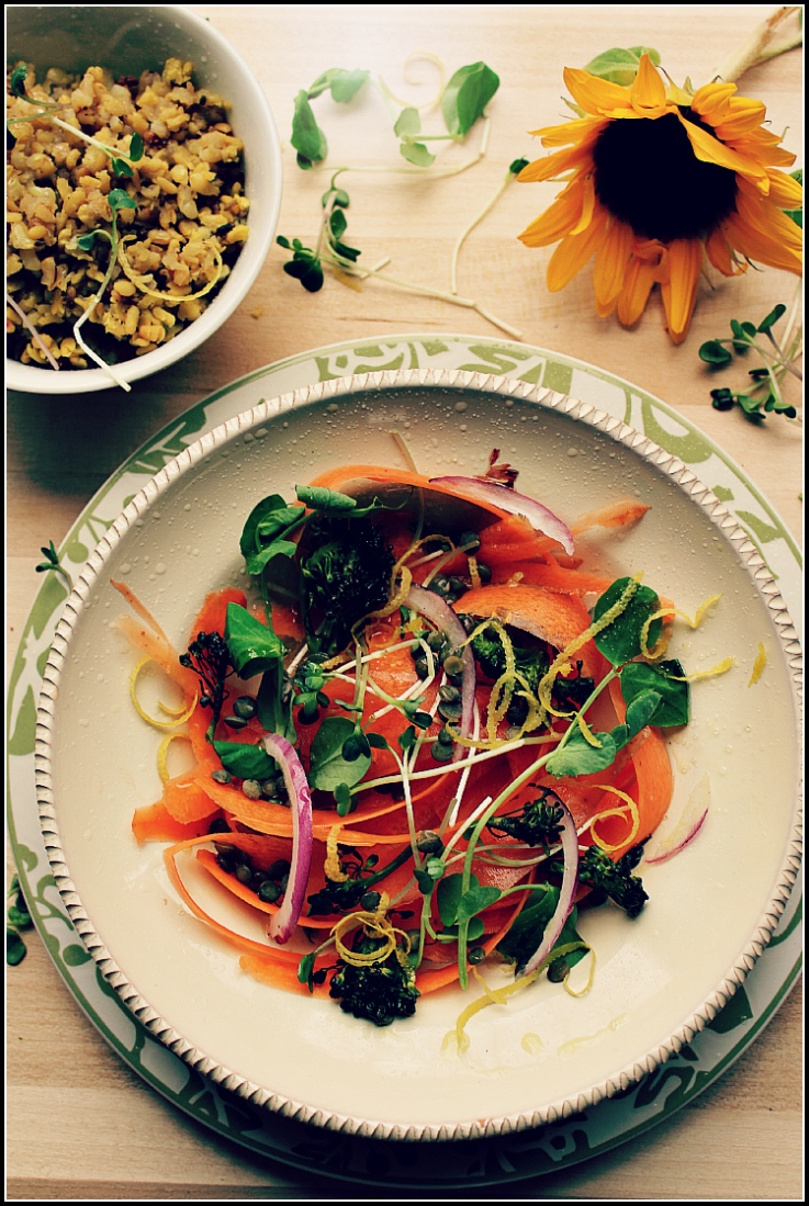 Carrot and Lentil Salad, Nourish Yourself and Your Family